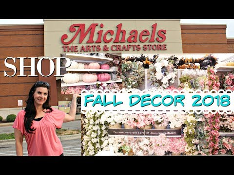 🍁FALL DECOR 2018 🍁 MICHAEL'S CRAFT STORE SHOP WITH ME