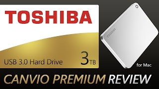 Toshiba Canvio Premium 3TB Silver Metallic Hard Drive for Mac Unboxing & Review!