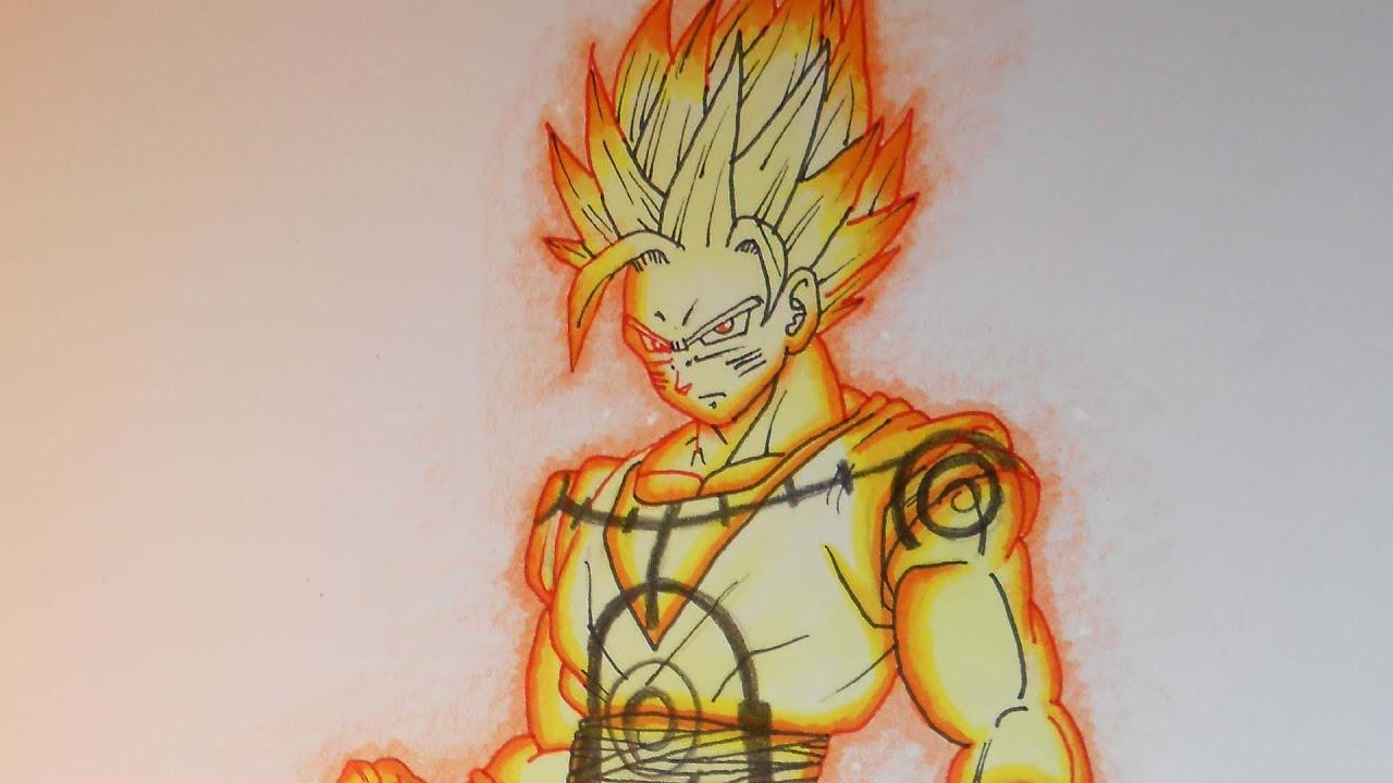 drawing goku kurama chakra mode youtube