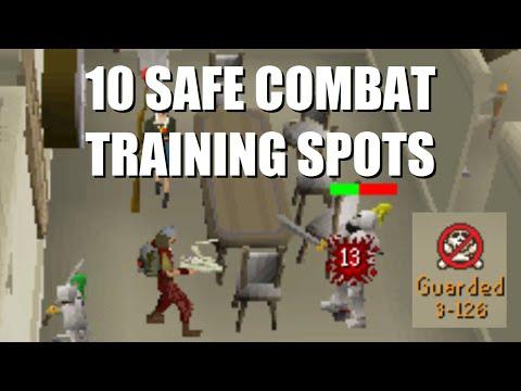 Runescape 2007 10 Combat Training Spots Deadman Mode Safe Youtube