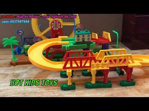 Đồ chơi xe lửa   tàu hỏa và đường ray   công viên đồ chơi cho bé