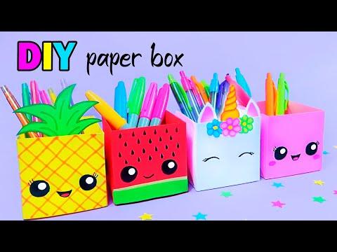 how-to-make-a-paper-pen-holder-/-diy-paper-pen-holder-/-easy-origami-tutorial