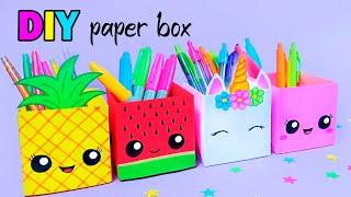 How To Make a Paper Pen Stand / DIY Paper Crafts / Easy Origami Tutorial