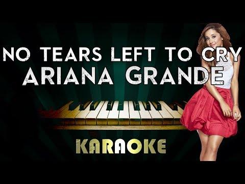 Ariana Grande - No Tears Left To Cry   LOWER Key Piano Karaoke Instrumental Lyrics Cover