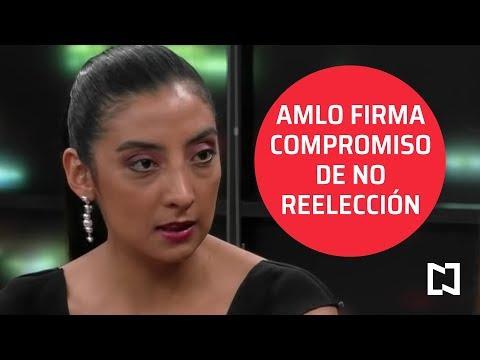 AMLO firma compromiso de no reelección - Punto y Contrapunto