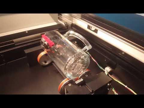 DIY CO2 Engraver Rotary Test by TobiasPl