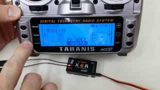How to bind FrSky X6R receiver to Taranis X9D transmitter in D16 mode
