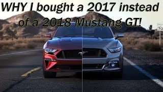 WHY I bought a NEW 2017 instead of a 2018 Mustang GT - how much I paid (VLog)