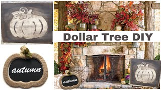 Farmhouse Rustic Fall Dollar Tree DIYs