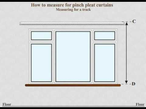 How to measure for made to measure pinch pleat curtains using a track