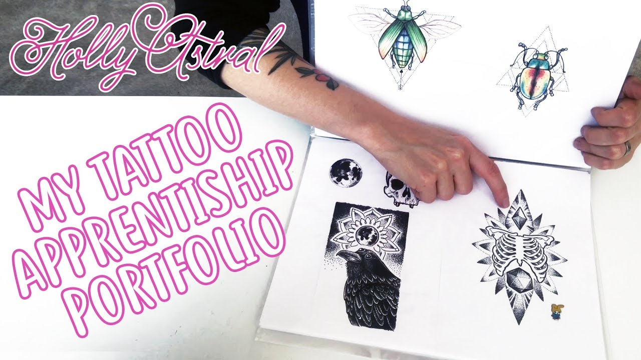 My tattoo apprenticeship portfolio - YouTube