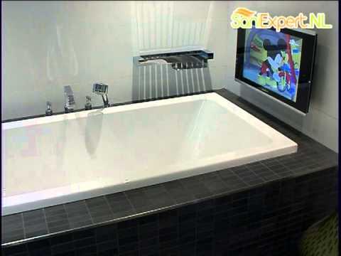Aquasound - Badkamer lcd tv 22\'\'/56cm. - YouTube