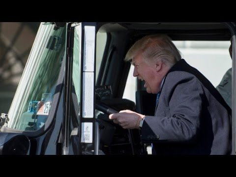 President Trump Hops Into A Truck Cab Youtube