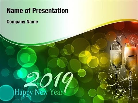new year party 2019 powerpoint template backgrounds, Modern powerpoint