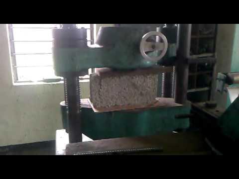 Concrete Hollow Blocks Strength Test Youtube