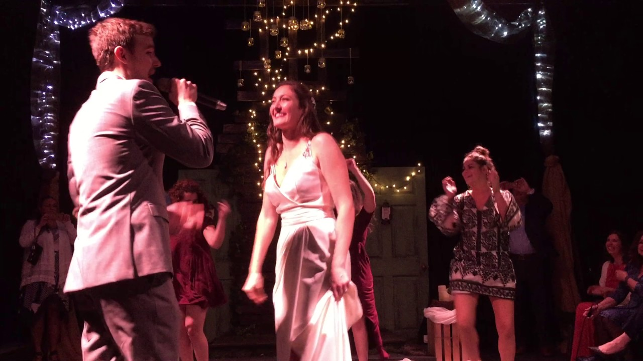 Private Ceremony Reception Later: GROOM SINGS TO BRIDE AT WEDDING RECEPTION SURPRISE