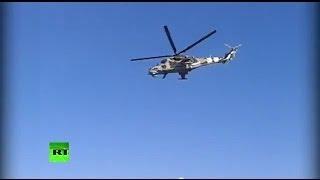 Военные вертолёты испугали жителей Лисичанска