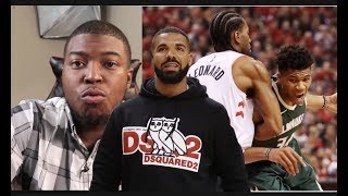 Milwaukee Bucks Vs Toronto Raptors 2019 Game 4 - Injured Kawhi Gets Help From EVERYBODY Even Drake!