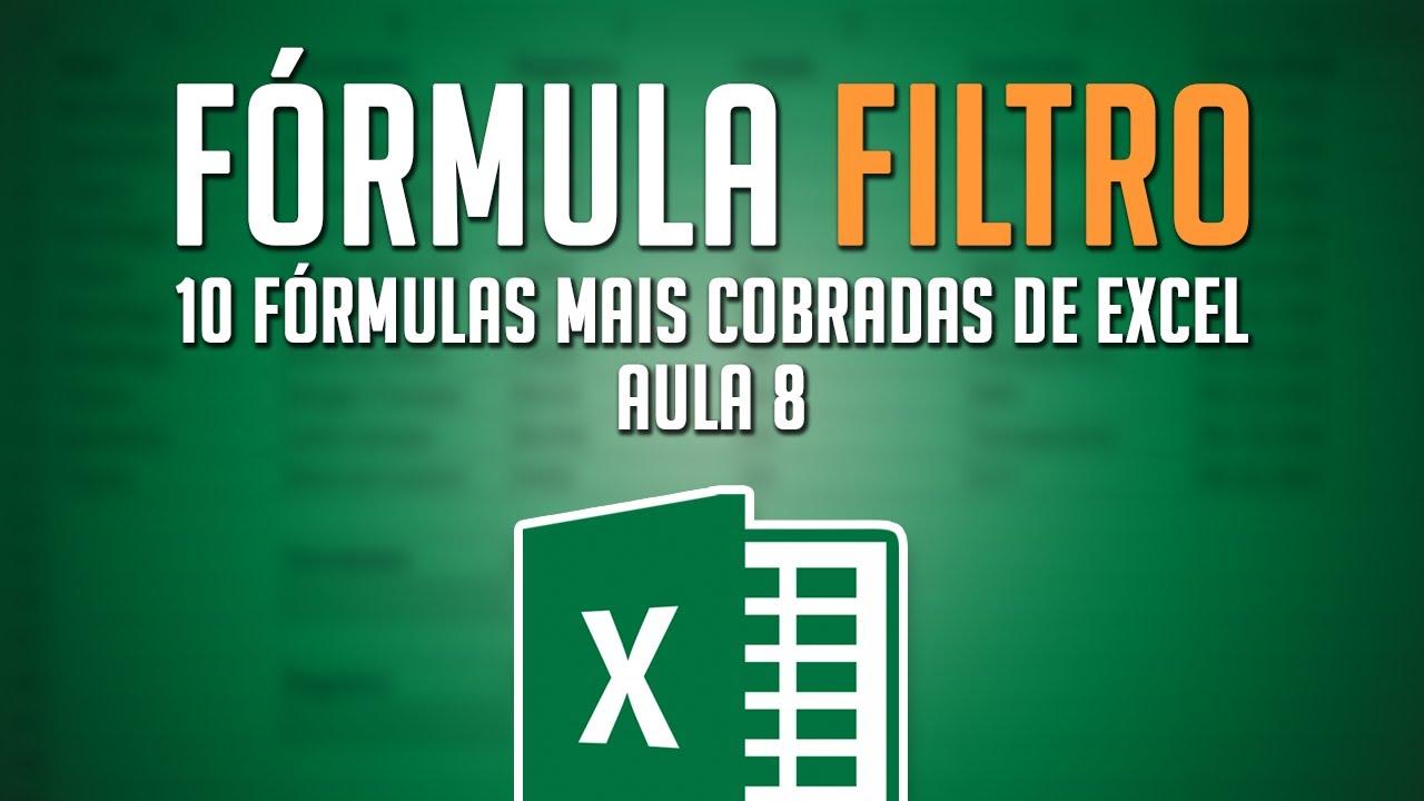 Função FILTRO Excel 20 O filtro mais fácil e dinâmico que você ...