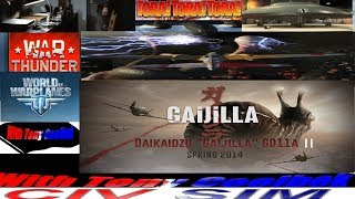 "Hitler's Unflyable UFO V.S ""Gaijilla"" (War Thunder V.S World Of War Planes)"