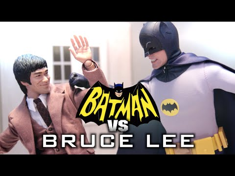 Batman VS Bruce Lee ( Stop Motion ) (Hot Toys ) *HD*