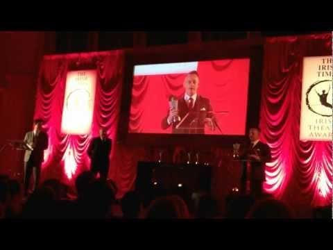 Little John Nee at the Irish Times Theatre Awards 2013