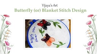 Download Lagu Hand Embroidery Butterfly Design - Butterfly (or) Blanket Stitch Design mp3