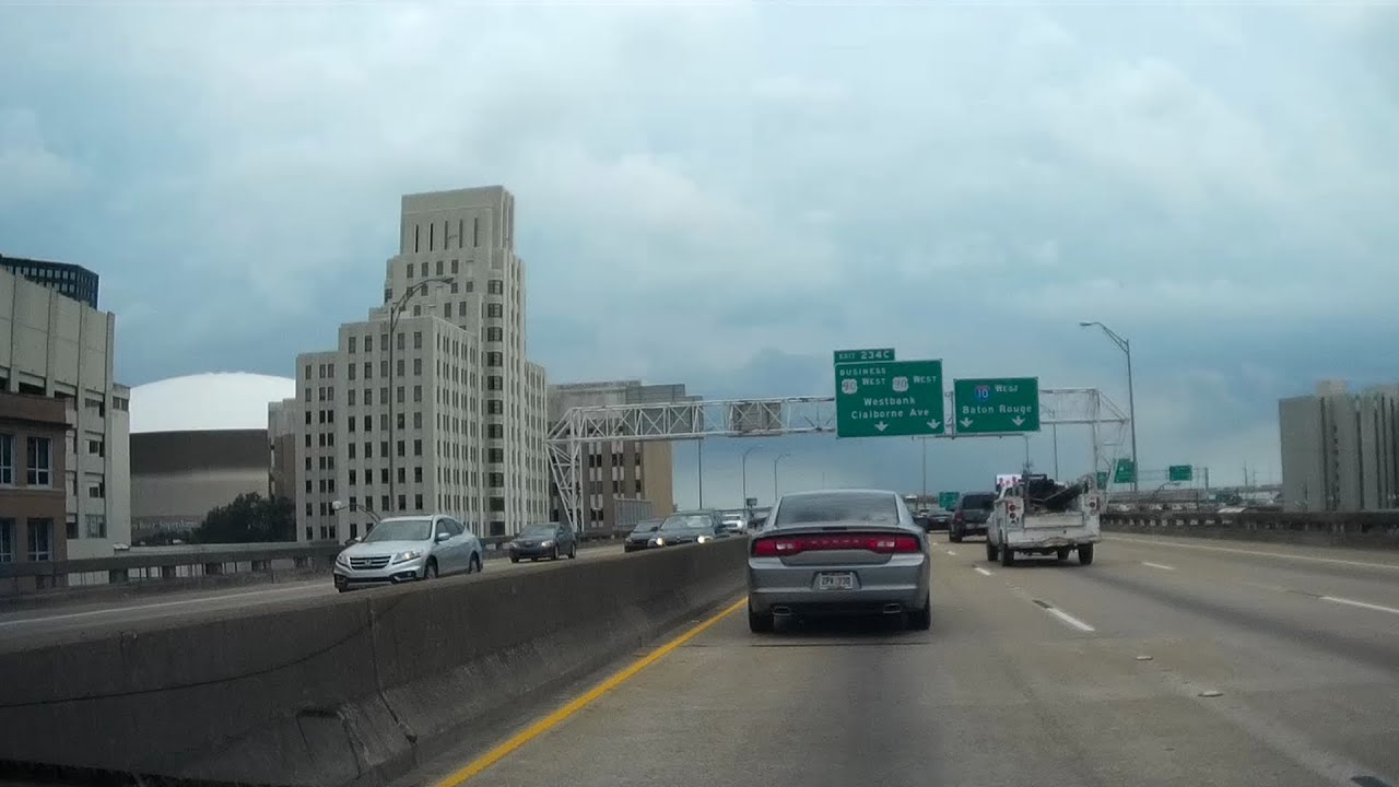 Road Trip #032 - I-10 West, Slidell to New Orleans, Louisiana