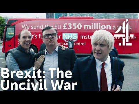Brexit: The Uncivil War - Benedict Cumberbatch (as Dominic Cummings) Shows Brexit Bus to Boris