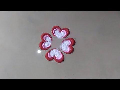 सुंदर छोटी रंगोली Beautiful easy quick rangoli design for everyday By Bucketful Creation thumbnail