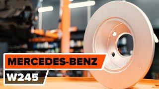 Návod: Ako vymeniť zadné brzdové kotúče, zadné brzdové platničky na MERCEDES-BENZ B W245