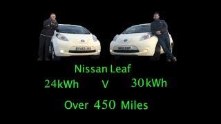 Leaf 24 kWh V Leaf 30 kWh - 450 miles