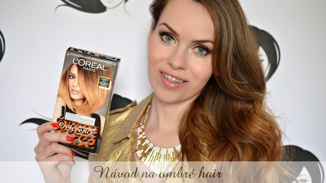 Jak na ombré vlasy sama doma s barvou Loreal wild ombrés - YouTube 30c7ead608f