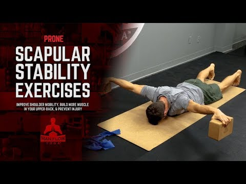 Prone Scapular Stability Exercises -  Increase Shoulder Mobility & Prevent Injury