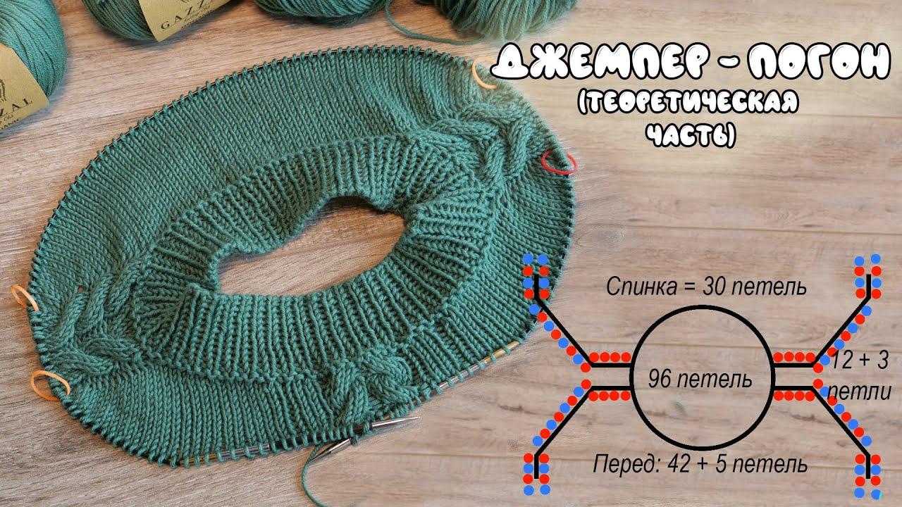 English subtitles!!! Джемпер Реглан – Погон 🐊 (теоретическая часть)-Jumper - raglan knitting pattern