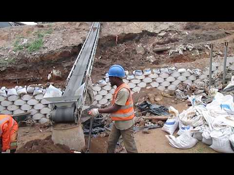 Bank Excavation - Site preparation for retaining wall construction in Durban KwaZulu Nata