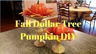 Dollar Tree Fall Pumpkin DIY