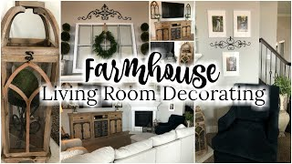 DECORATE WITH ME FARMHOUSE STYLE | NEW HOUSE LIVING ROOM REVEAL