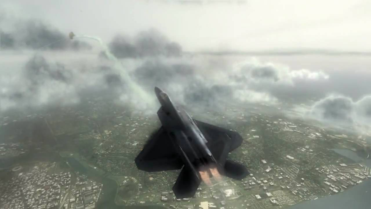 f-22 raptor dogfight from tom clancy's hawx hd 720p - youtube