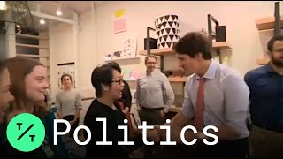 Trudeau Greets Voters Amid 'Brownface' Yearbook Photo Controversy
