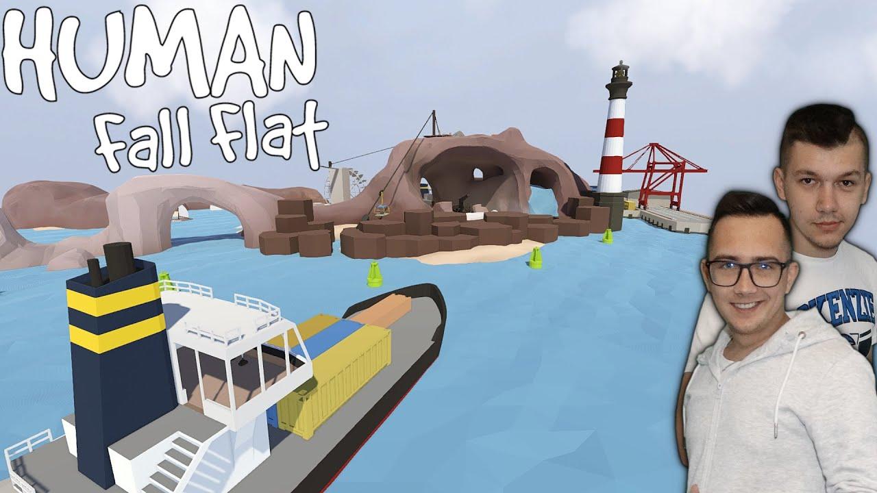Ratuj Mnie!!✔Co za Mapka :D Pływamy Statkami & Spływ na materacu   ㋡ Human: Fall Flat #2