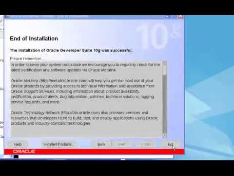 How to install oracle developer suite 10g on windows xp and windows 7