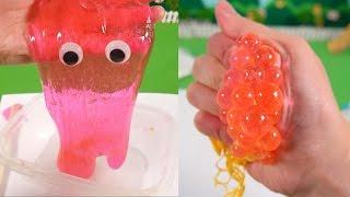 쉬운 액체괴물 만들기 & 색깔이 바뀌는 스쿼시 메쉬 스트레스 볼 ★뽀로로 장난감 애니 캐릭온 TV