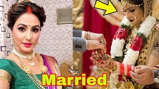Tv actress Hina Khan got married to love of her life 😍|Latest News