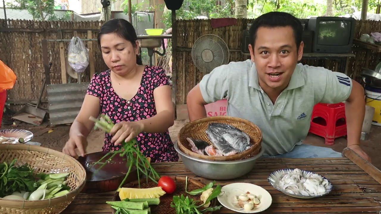 Canh chua đầu cá hồi và cá trê chiên mắm gừng #422 | 7 Thuận