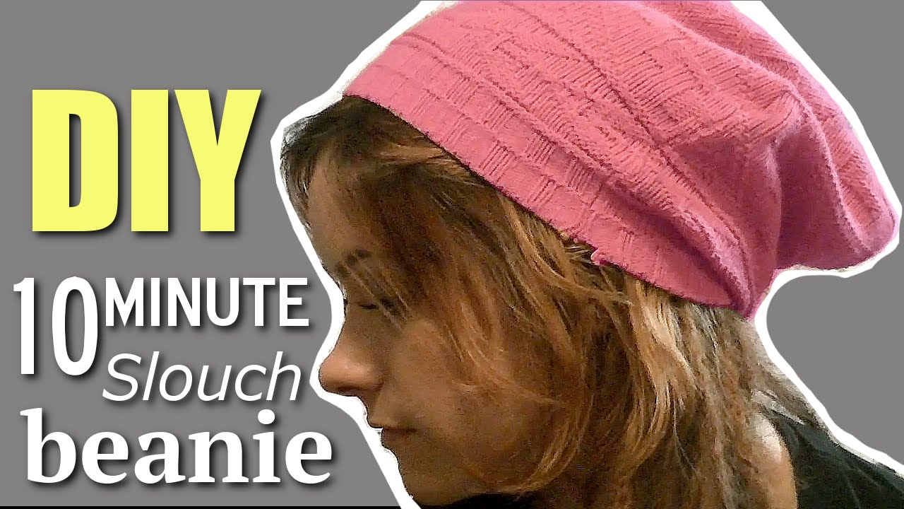 DIY FASHION  10 Minute INSANELY EASY Slouchy Beanie! - YouTube 2af994d2200