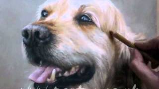 Speed Painting - Dog In Pastels - Golden Retriever