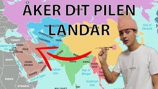 ÅKER TILL DET LAND PILEN TRÄFFAR