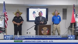 40 nabbed during large drug operation in eastern NC, sheriff says