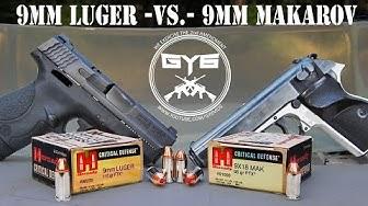 9mm Makarov - VS - 9mm Luger